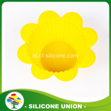 Promosi Mini Flower Shape Silicone Cake Mould