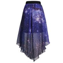 Falda de las señoras de la moda de la falda de la impresión