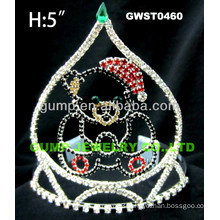 Christmas bear rhinestone tiara and crown