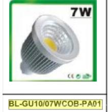 7 Вт затемнения GU10 cob светодиодный Прожектор