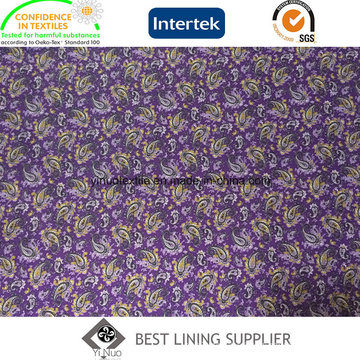 100 Poliester Men′s Jacket Printed Liner Lining Fabric China Supplier
