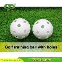 Pelotas de golf prácticas de las bolas de golf de la venta de la fábrica Pelotas de golf plásticas con el agujero