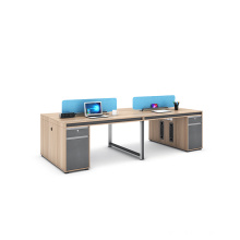 modern  4 person office workstation