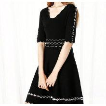 Elegantes vestidos medianos de media manga para mujer 2018