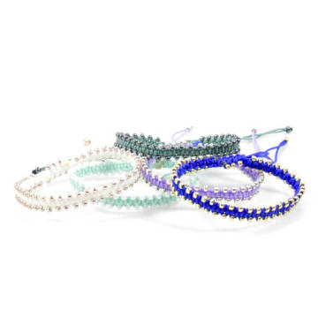 Custom Design Braided Bead Rope Bracelets For Girls