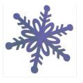 Adornos de copo de nieve de papel hecho a mano para Navidad