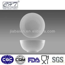 High quality round large white porcelain fruit bowl