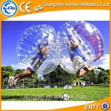 Recentemente Dia 1.5m bola clara do corpo, esfera inflável da bolha do futebol para a venda