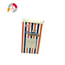 Reclosable 양철 넥타이와 사용자 정의 종이 팝콘 가방