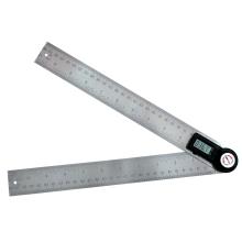 2 em 1 Digital Angle Régua Finder Medidor Transferidor Inclinômetro Goniômetro Medidor de Ângulo Eletrônico em Aço Inoxidável