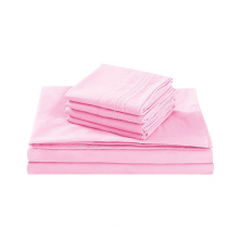 Bed Sheet Set 100% Egyptian Cotton 200 Thread-Count Queen Size Wrinkle Fade Stain Resistant  4 Piece
