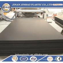 пожаробезопасный твердое покрытие листа пены PVC черный