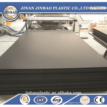 incombustible recubrimiento duro PVC espuma hoja negro