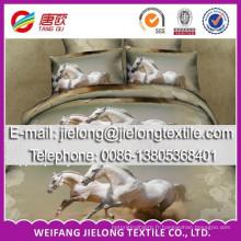 2014 nouvelle mode cheval animal panneau imprimé polyester tissu pour drap de lit en rouleau