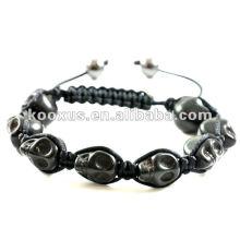 Black 8 skull shamballa bracelet