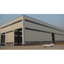 High Quality Light Galvanized Space Frame Workshop Steel Structure