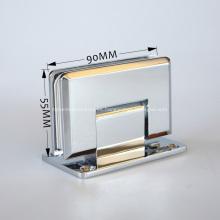Bisagra de cristal de la ducha sin marco de 90 grados