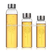 Großhandelsweltcup-heiße einzigartige tragbare Voss-Glaswasser-Flasche