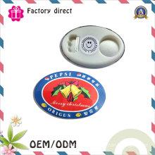 Custom Bottle 93*63mm Oval Shape Magnetic Bottle Opener