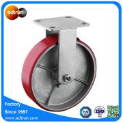Industrial Heavy Duty PU Steel Casters Swivel and Rigid Plate