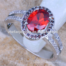 anneau de pierres précieuses rubis nobles bagues de fiançailles musulmanes