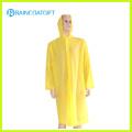 Long Sleeve Yellow Disposbale Raincoat