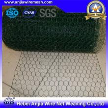 Maille hexagonale revêtue de PVC pour poulailler