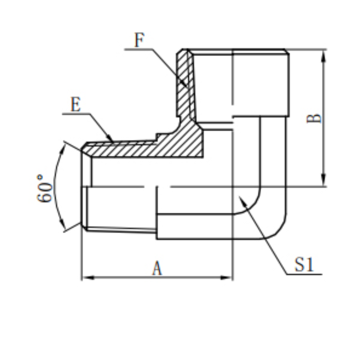 Hydraulic Elbow Adapters