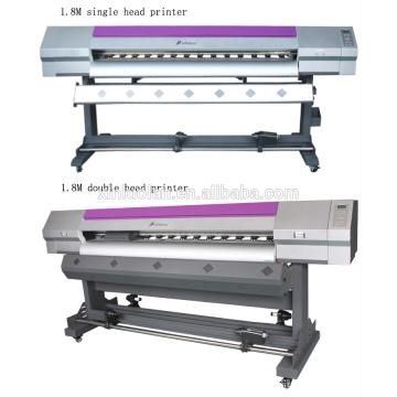Impresora de lienzo de 1,8 metros con dos cabezales de impresión Epson (DX5 o DX7)