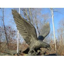 Décoration de jardin bronze animaux artisanat métal aigle statue