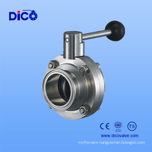 Dico Food Butterfly Valve with Clamp End