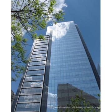 Rahmenlose ausgeglichene lamellierte Glasvorhang-Wand für das Errichten