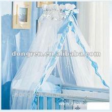Tenda de mosquiteira com renda romântica
