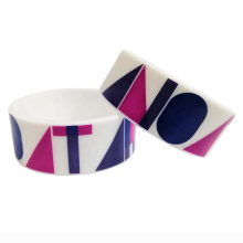 Wholesale 1 Inch Peace Logo Printing Silicone Wristbands