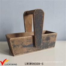 Cesta europea de almacenamiento de madera sólida
