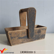 European Farm Solid Wood Vintage Storage Basket