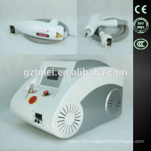 Strong wavelength nd yag long pulse laser tattoo/ hair removal