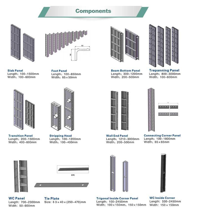 Aluminum Formwork Concrete Construction Aluminum Template