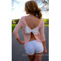 T-shirt sans manches dos-nu dames de mode sexy femmes robe d'été 2015