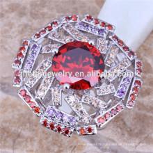 Anneaux de mode Rubis Crystal Diamond Big Ring