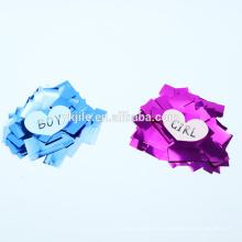 al por mayor hoja rosa o azul género jile fábrica confeti poppers