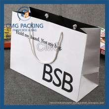 High Glossy Black Printing Handle Paper Bag (DM-GPBB-154)