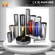 Coloful Aluminum Metallized PET Film for lamination and Printing