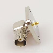 Brida de enchufe de conector R / A de montaje de brida cuadrada BNC