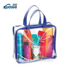 customized zipper pvc clear bag