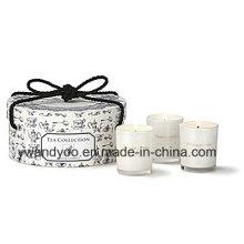 Ensemble de bougies cadeau de soja parfumé de luxe dans un pot en verre