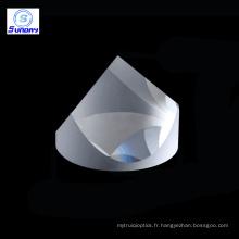 Prismes de rétroréflecteurs de cube de coin de silice fondue de JGS1