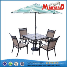 Mesa de jantar e cadeiras de metal cadeira de aço móveis