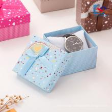 pas cher personnalisé imprimé boucles d'oreilles bracelet cadeau boîte bijoux présentoirs en gros