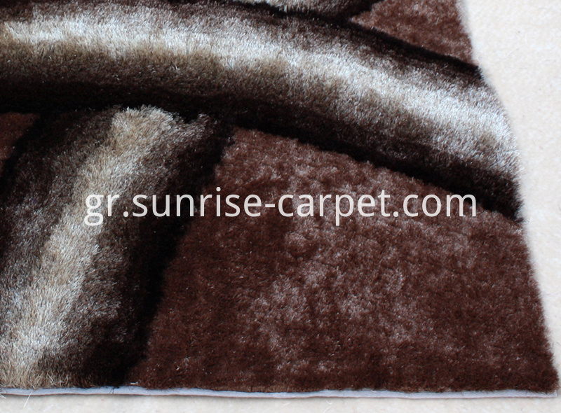 Polyester Shaggy Rug Gradational Color